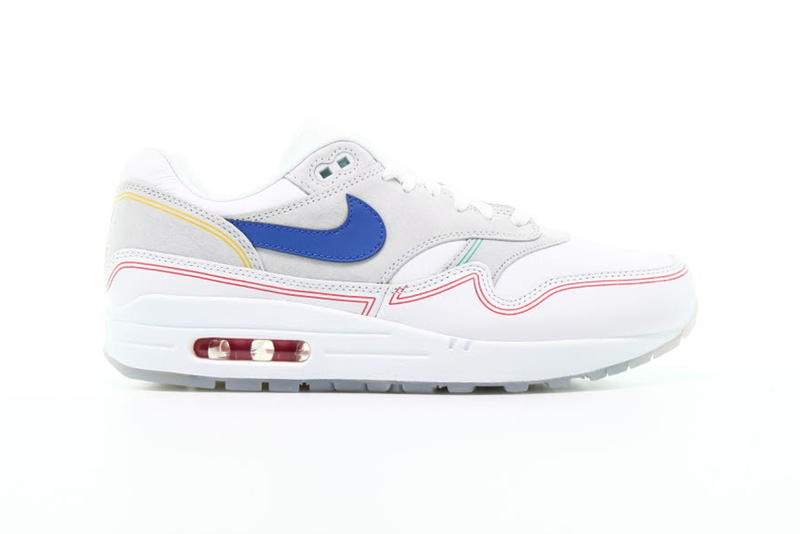 Nike Air Max 1 By Day Red Blue Yellow Teal