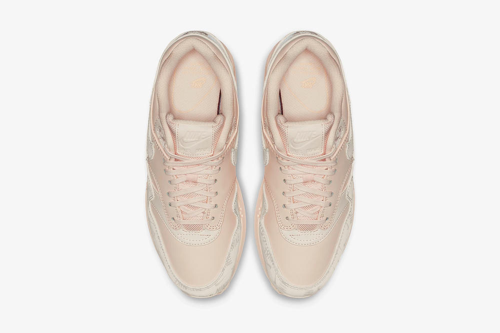 nike air max 1 lx guava ice leather pastel pink peach
