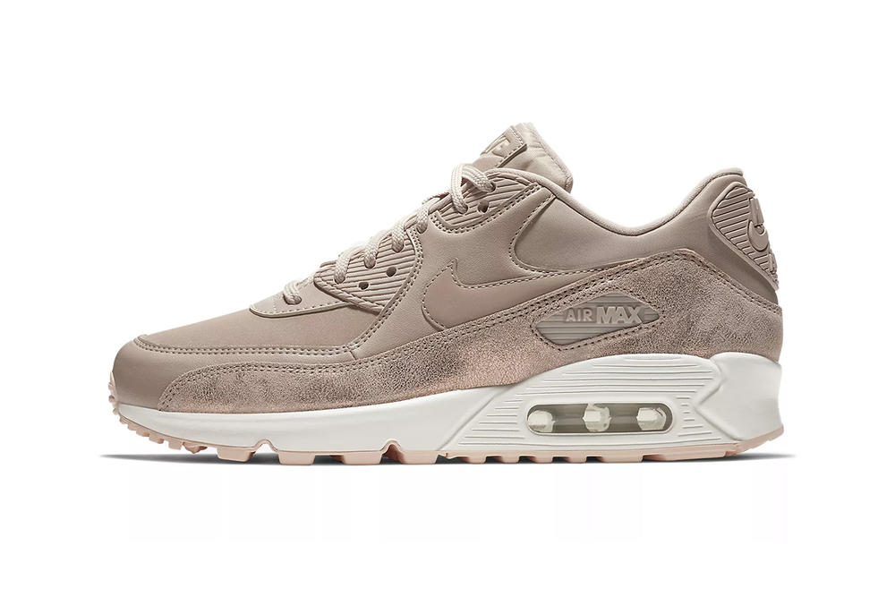 Nike Air Max 90 Particle Beige Crimson Tint Nude Sneakers Trainers