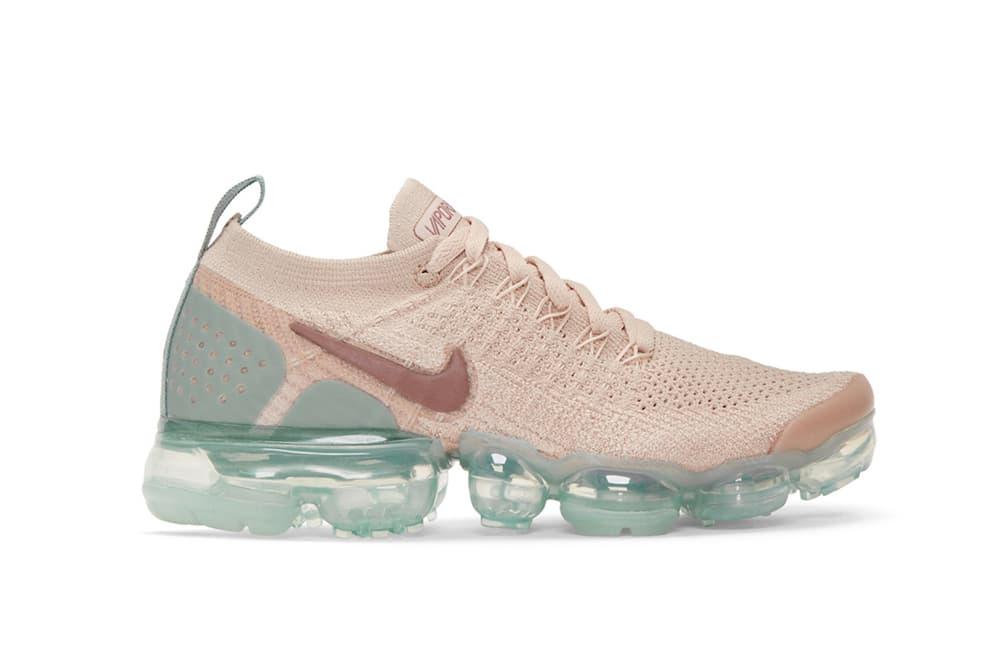 "Nike Air VaporMax Flyknit 2.0 ""Particle Beige"" Pink Blue Ice Sneaker Sleek Trainer Crep Shoe"