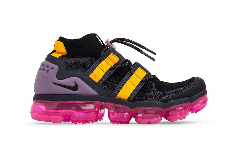 25c7d8d0e7629 Nike Air VaporMax Flyknit Utility Black Gridiron Pink Blast