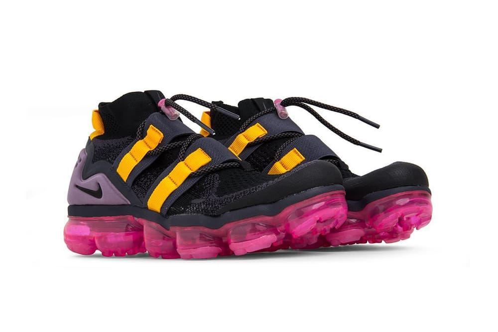 Nike Air VaporMax Flyknit Utility Black Gridiron Pink Blast