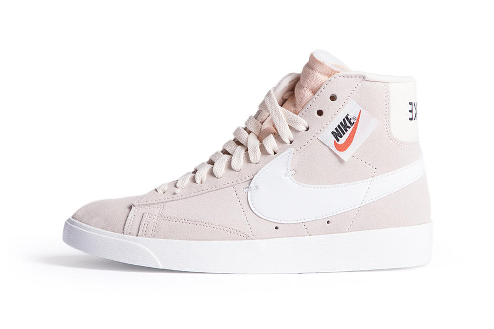 wholesale dealer 10613 6fe09 Nike Blazer Mid Rebel Pastel Pink Olive Green Black Women s Sneaker