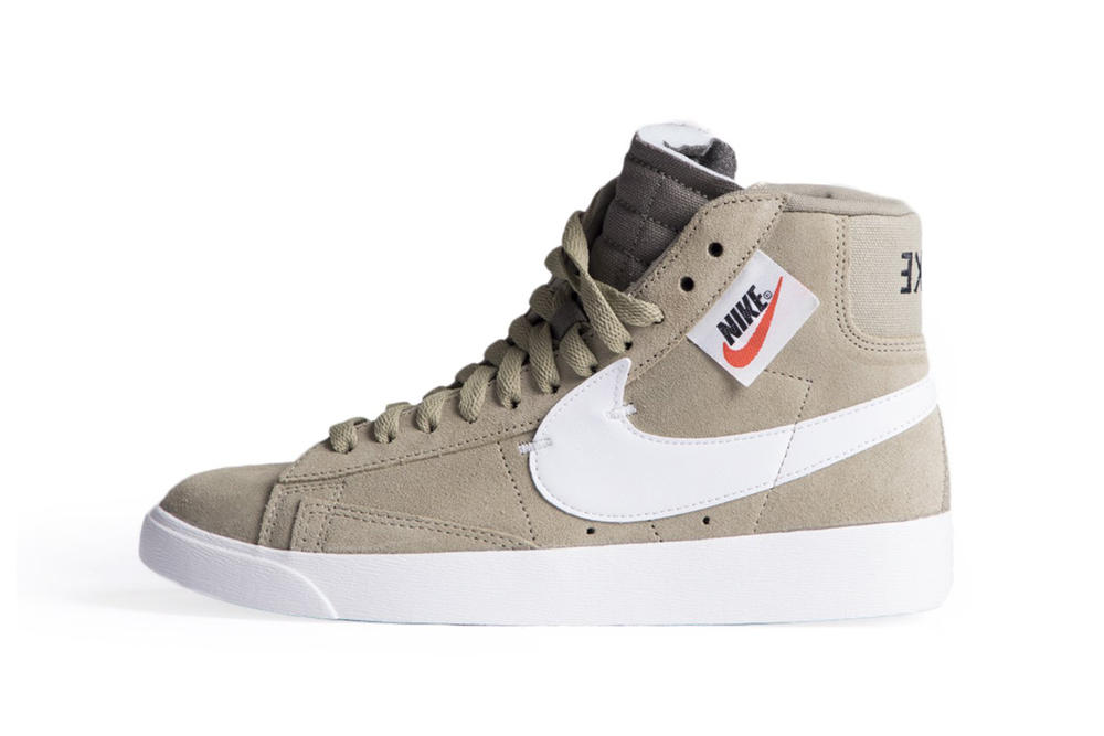 wholesale dealer b1711 535c6 Nike Blazer Mid Rebel Pastel Pink Olive Green Black Women s Sneaker