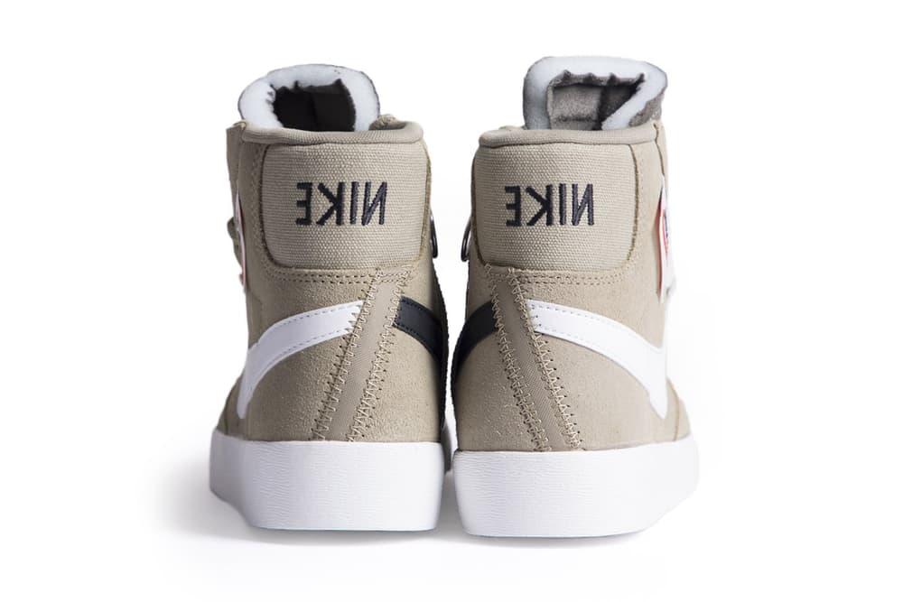 Nike Blazer Mid Rebel Pastel Pink Olive Green Black Women's Sneaker