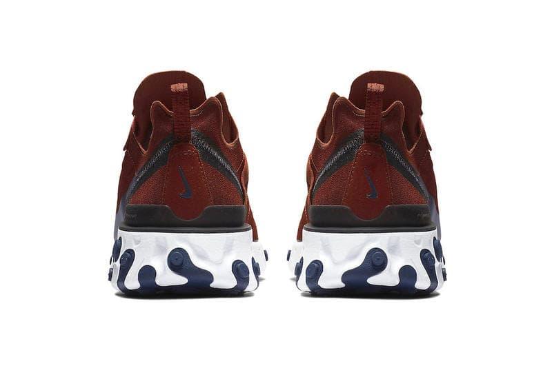 Nike React Element 55 Crimson Navy Blue
