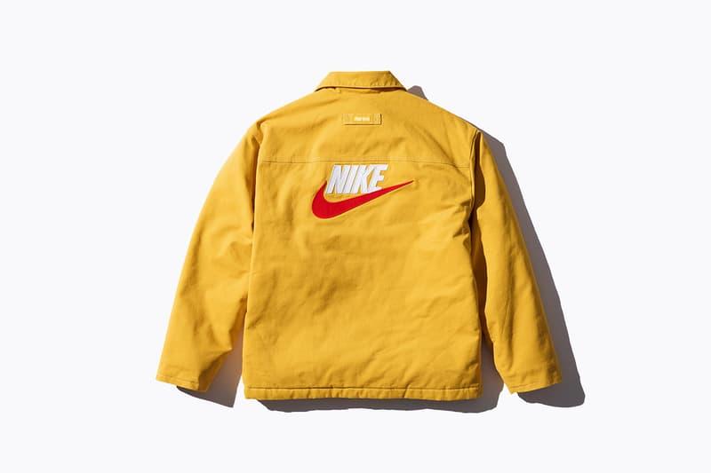 Nike Supreme Collaboration Logo Jacket Yellow Swoosh