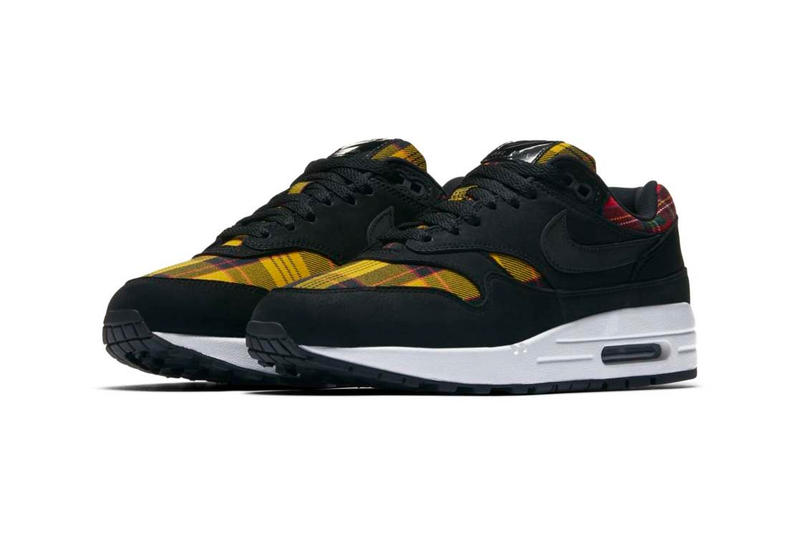 Nike Yellow Red Tartan Air Max 1