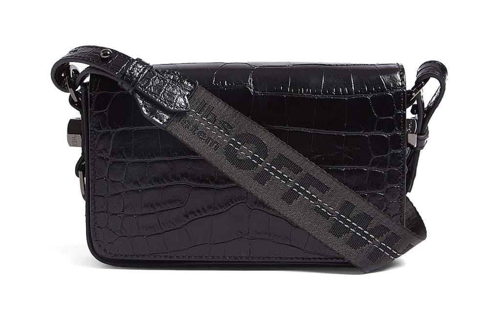 Off-White™ Patent Black Croc Shoulder Bag Virgil Abloh