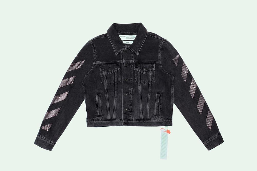 8ae2865e84f3 Off-White Virgil Abloh Selfridges Collaboration Industrial Belt Binder Clip  Bag Pink Denim Jacket Sweater