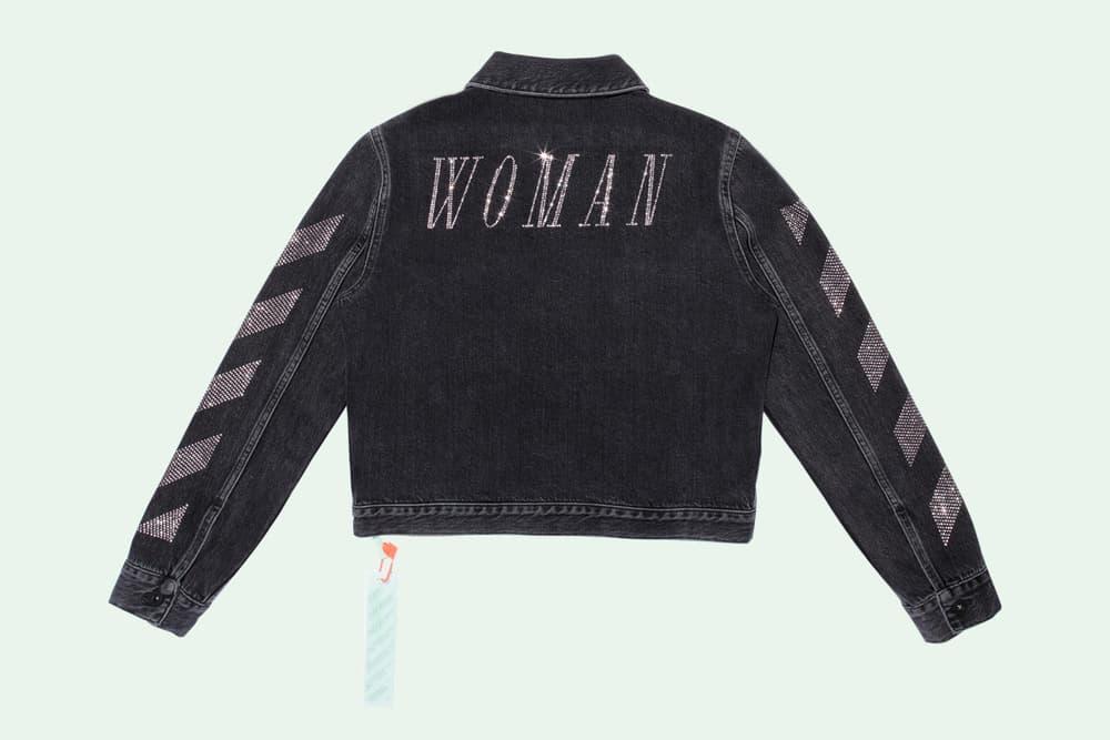 Off-White Virgil Abloh Selfridges Collaboration Industrial Belt Binder Clip Bag Pink Denim Jacket Sweater Hoodie