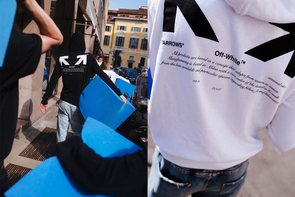 Off-White For All Collection Second Lookbook Arrow Hoodies Black White
