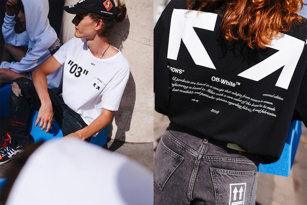 72dce32fd548 Off-White For All Collection Second Lookbook Number T-shirt White Arrow Tee  Black