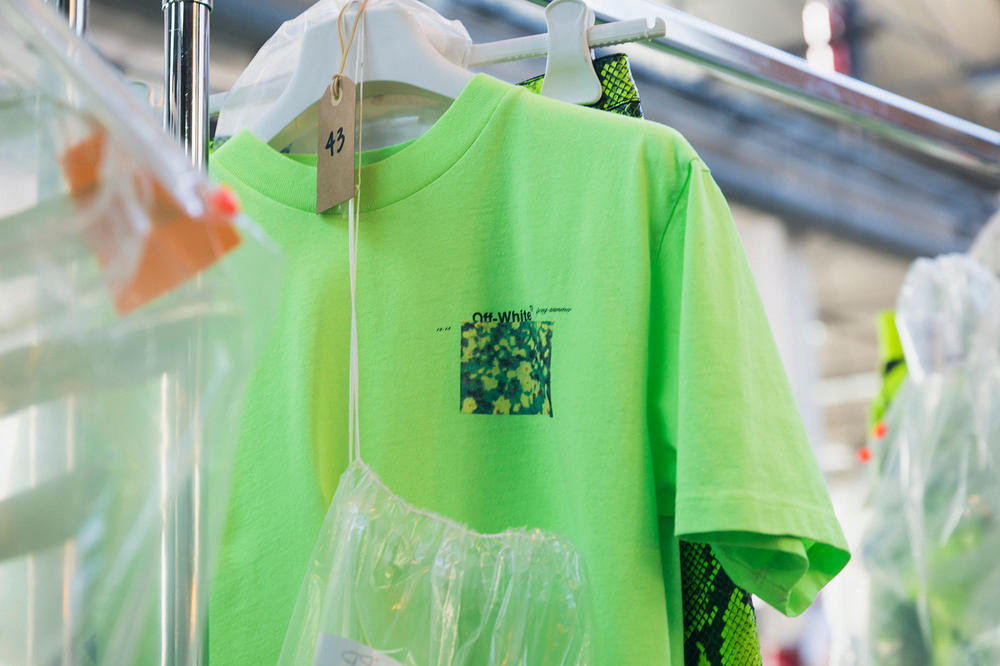 Off-White Virgil Abloh Spring Summer 2019 Paris Fashion Week Show Backstage T-shirt Green