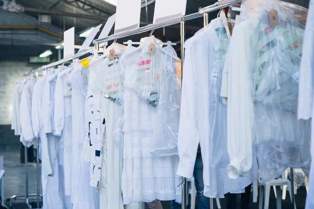 Off-White Virgil Abloh Spring Summer 2019 Paris Fashion Week Show Backstage Hoodies Jackets White