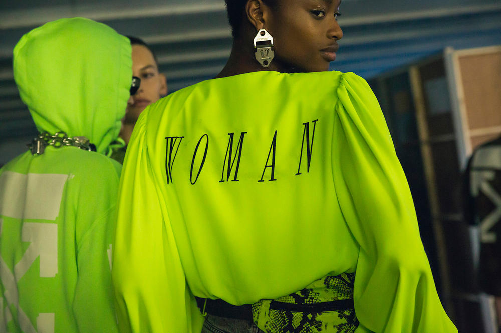 Off-White Virgil Abloh Spring Summer 2019 Paris Fashion Week Show Backstage Top Green
