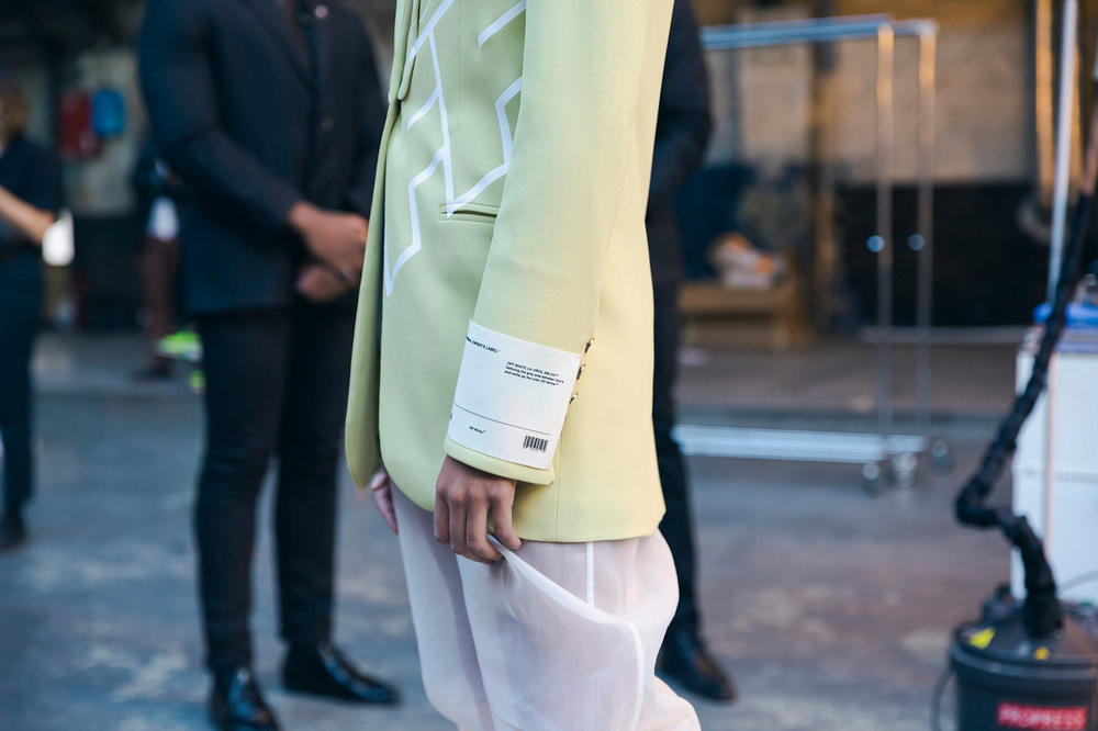 Off-White Virgil Abloh Spring Summer 2019 Paris Fashion Week Show Backstage Blazer Green