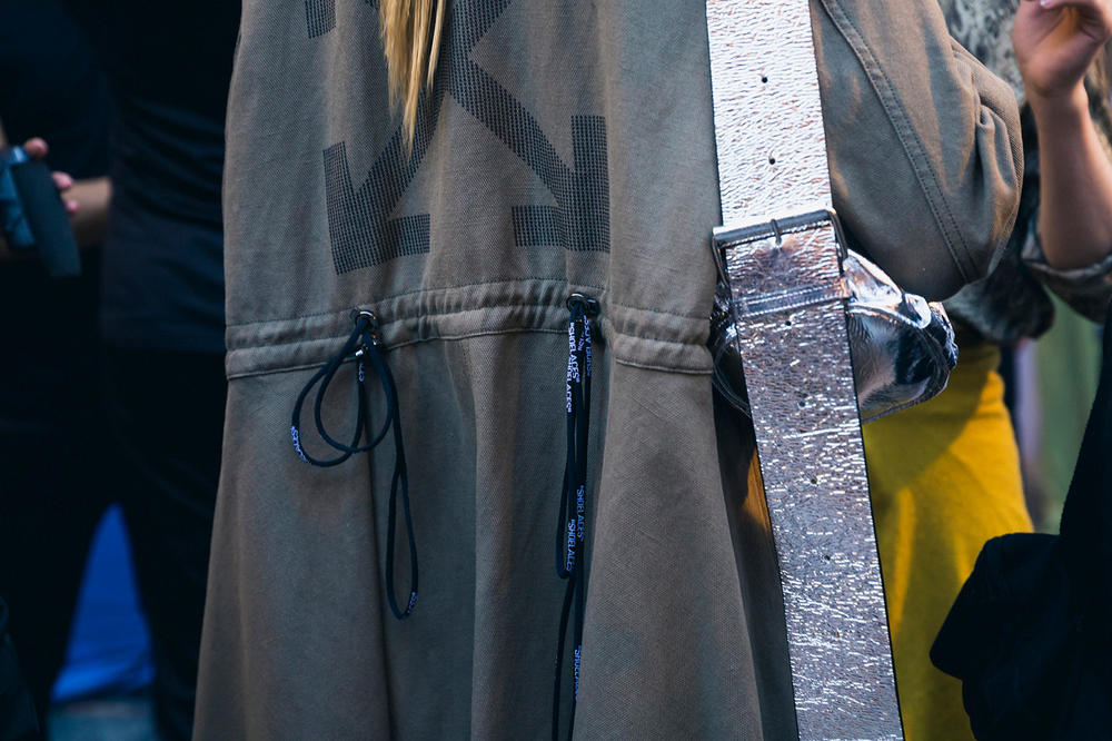 Off-White Virgil Abloh Spring Summer 2019 Paris Fashion Week Show Backstage Jacket Grey