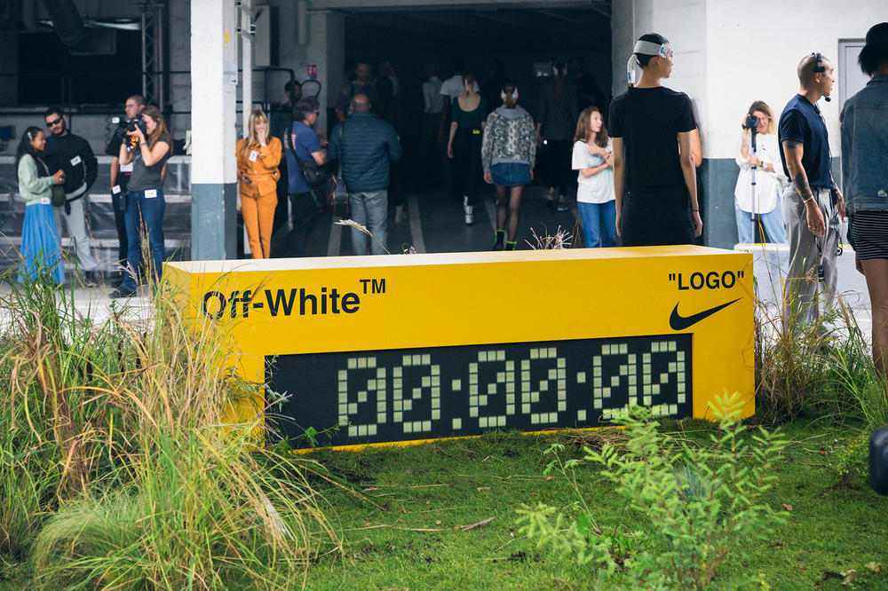 Off-White Virgil Abloh Spring Summer 2019 Paris Fashion Week Show Backstage Timer Yellow