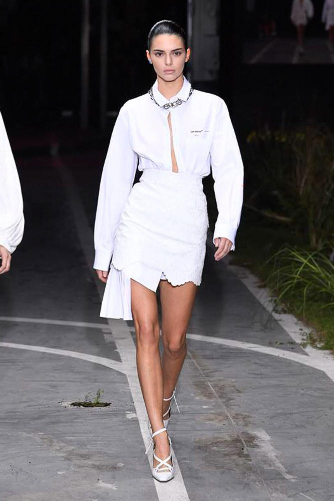 Off-White Virgil Abloh SS19 Runway Show Paris Fashion Week Track and Field Bella Hadid