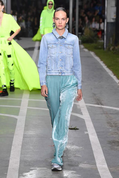 Off-White Virgil Abloh SS19 Runway Show Paris Fashion Week Track and Field Blue