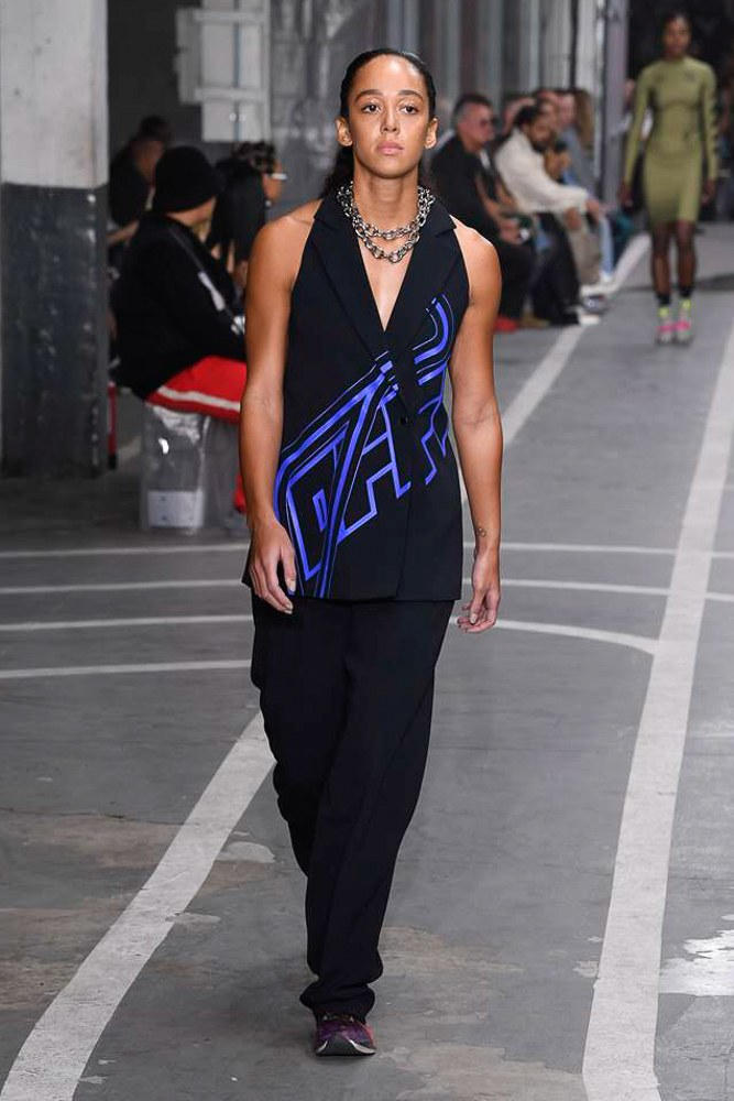 Off-White Virgil Abloh SS19 Runway Show Paris Fashion Week Track and Field Black