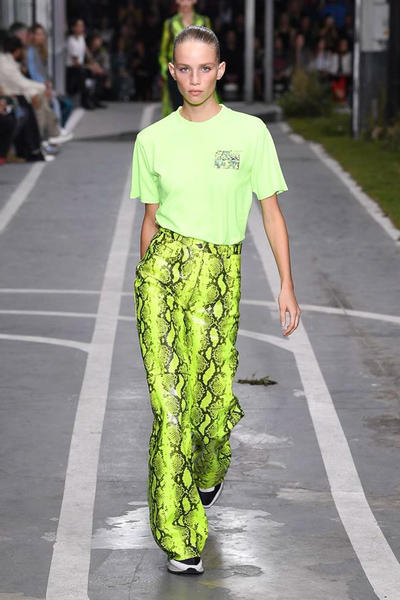 Off-White Virgil Abloh SS19 Runway Show Paris Fashion Week Track and Field Neon Yellow