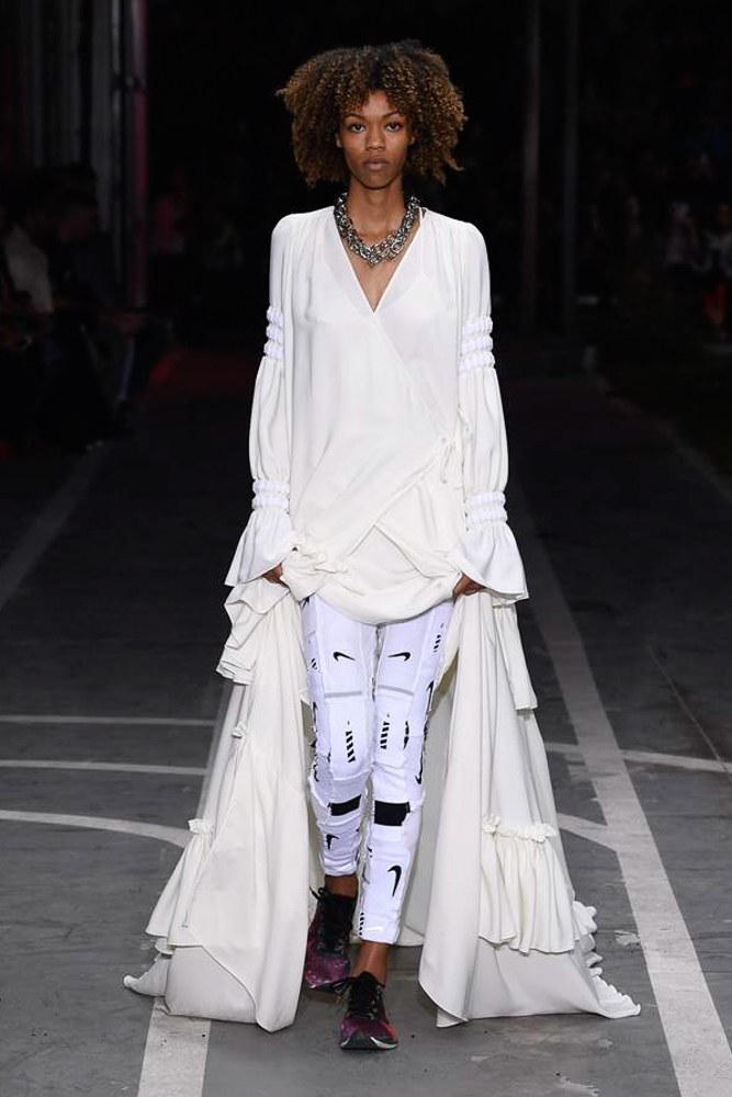Off-White Virgil Abloh SS19 Runway Show Paris Fashion Week Track and Field Nike Leggings White
