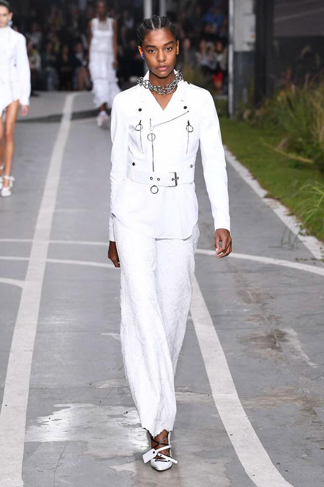Off-White Virgil Abloh SS19 Runway Show Paris Fashion Week Track and Field White