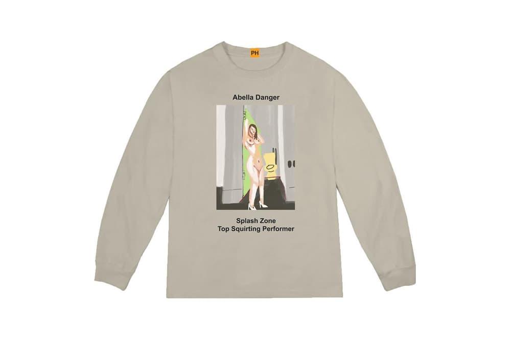 Pornhub YEEZY Kanye West Long Sleeve Shirt Abella Danger Collaboration Capsule Collection