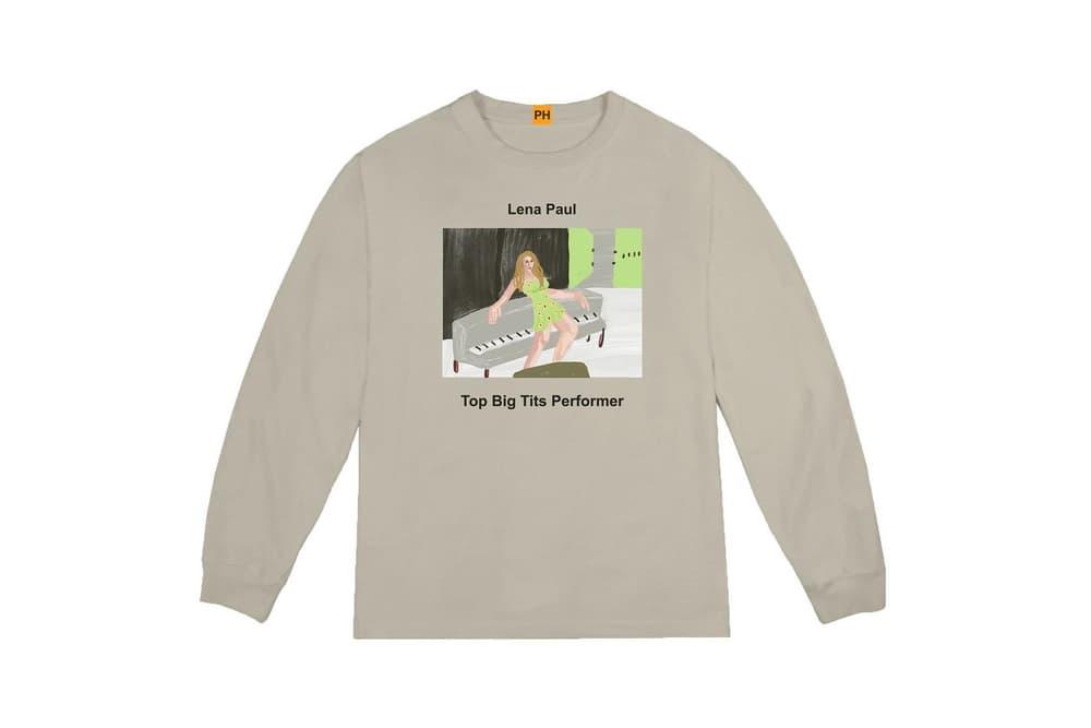 Pornhub YEEZY Kanye West Long Sleeve Shirt Lena Paul Collaboration Capsule Collection
