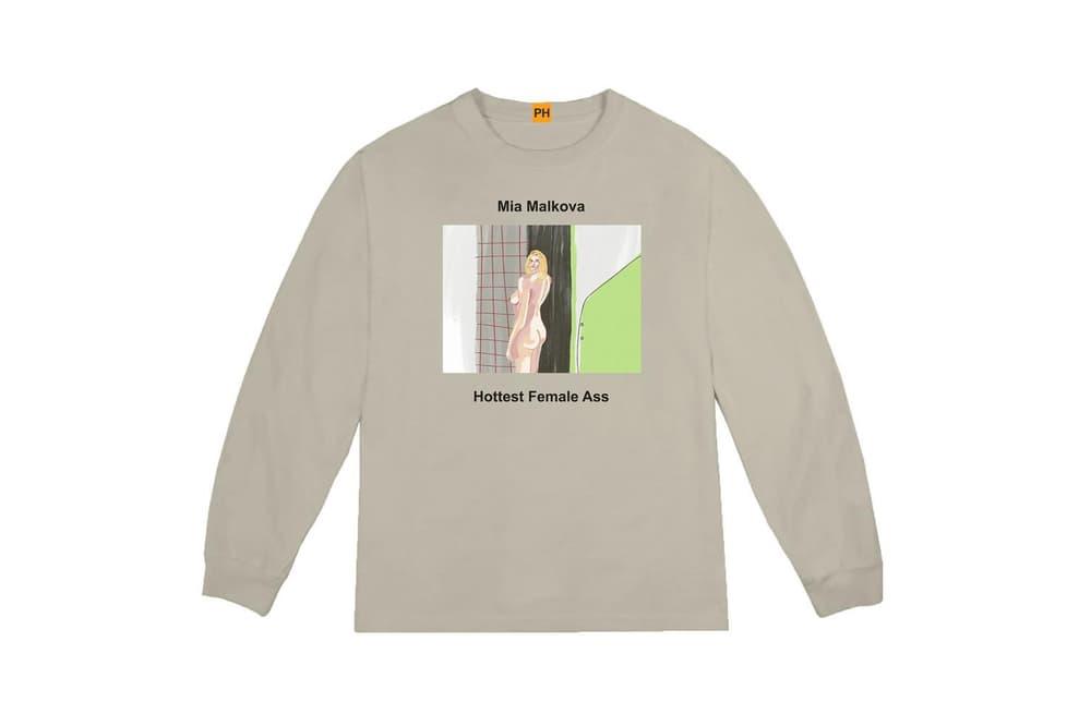 Pornhub YEEZY Kanye West Long Sleeve Shirt Mia Malkova Collaboration Capsule Collection