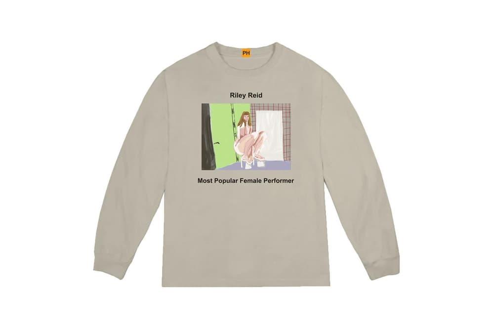 Pornhub YEEZY Kanye West Long Sleeve Shirt Riley Reid Collaboration Capsule Collection