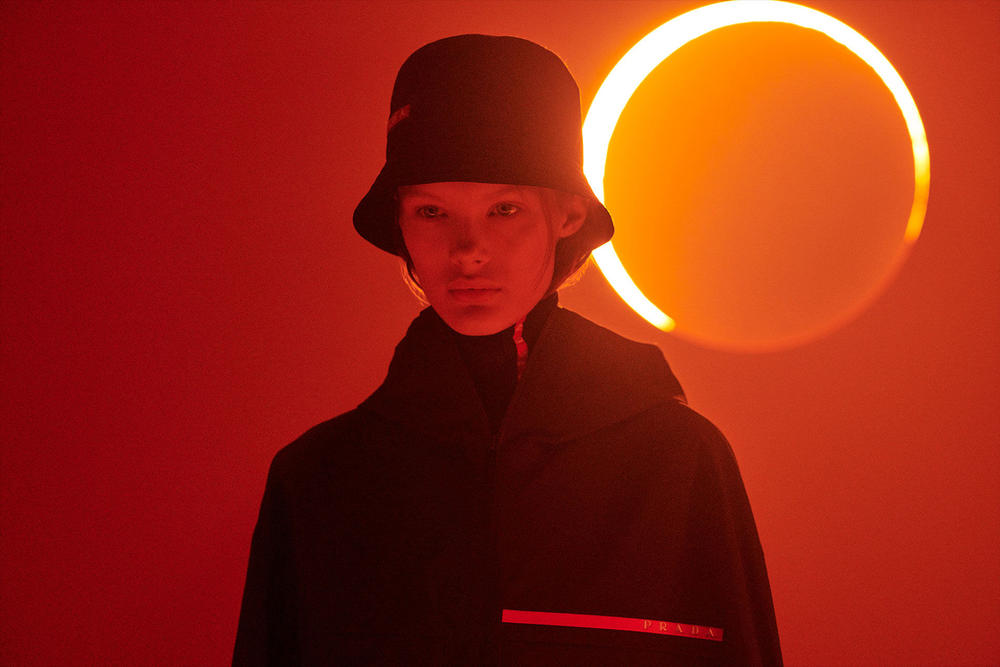Prada Linea Rossa Fall Winter 2018 Campaign Black Bucket Hat