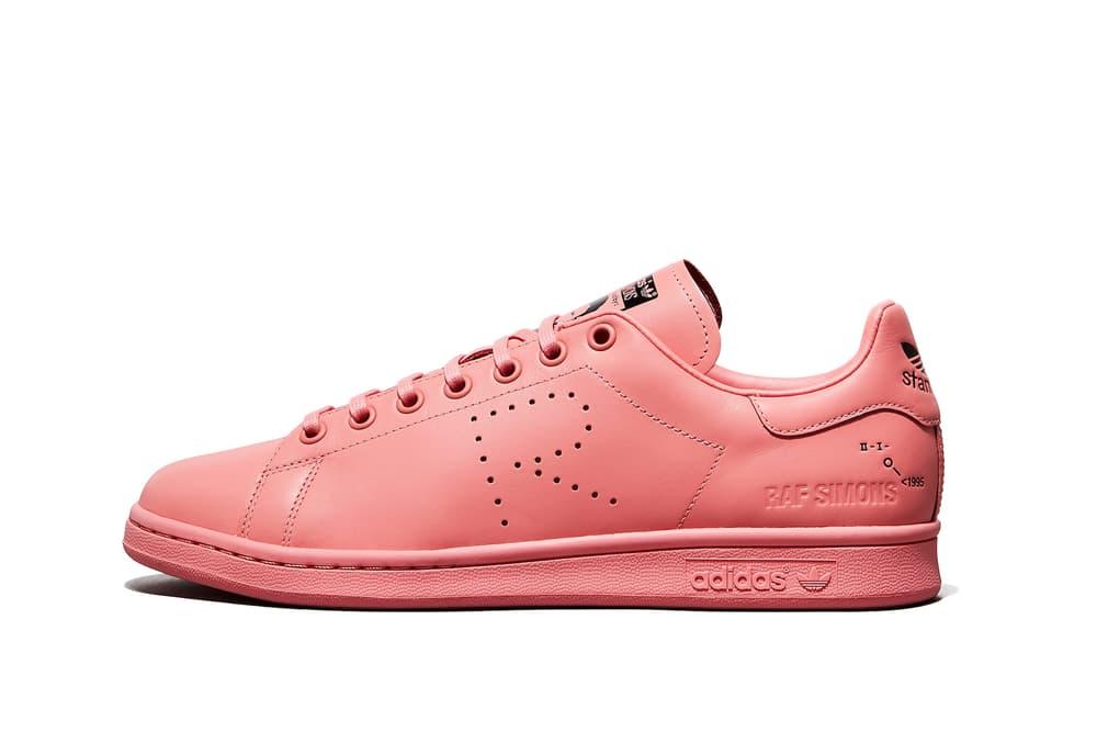 634404c4e5d Raf Simons adidas Fall Winter 2018 Stan Smith Ozweego Colorways Sneaker Pink  Yellow Grey Green