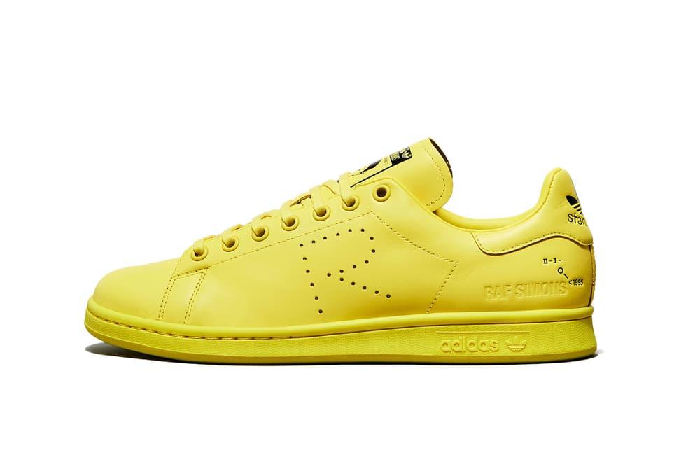 Raf Simons adidas Fall Winter 2018 Stan Smith Ozweego Colorways Sneaker Pink Yellow Grey Green