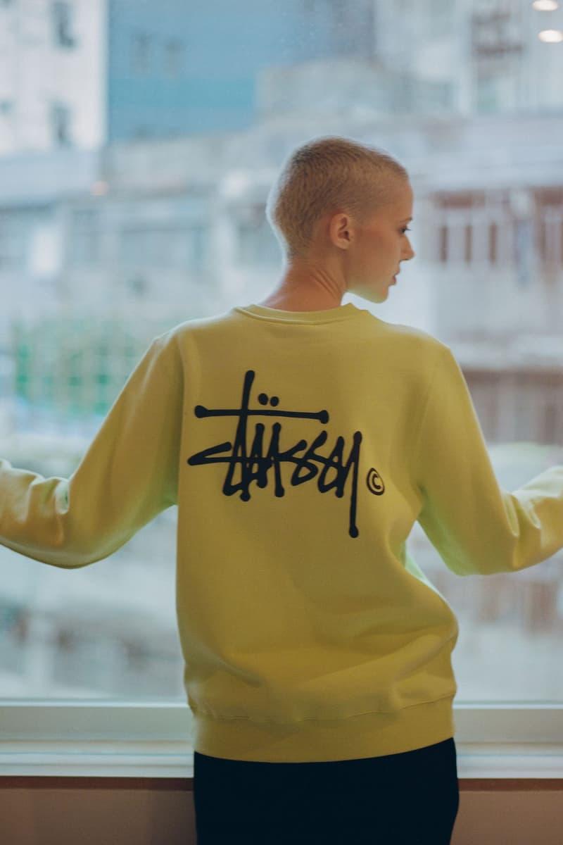 Stussy Fall Winter 2018 HBX Editorial Basic Logo Sweatshirt Green