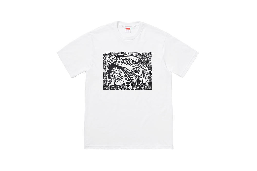 Supreme Fall 2018 Tabboo! T-Shirt Tees White