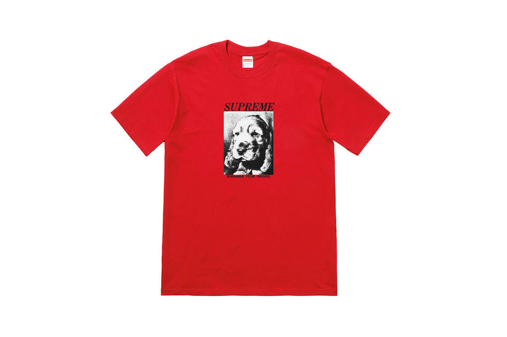 Supreme Fall 2018 Tabboo! T-Shirt Tees Red