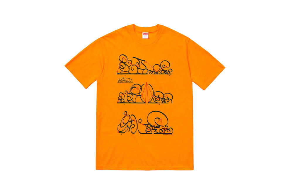 Supreme Fall 2018 Tabboo! T-Shirt Tees Orange