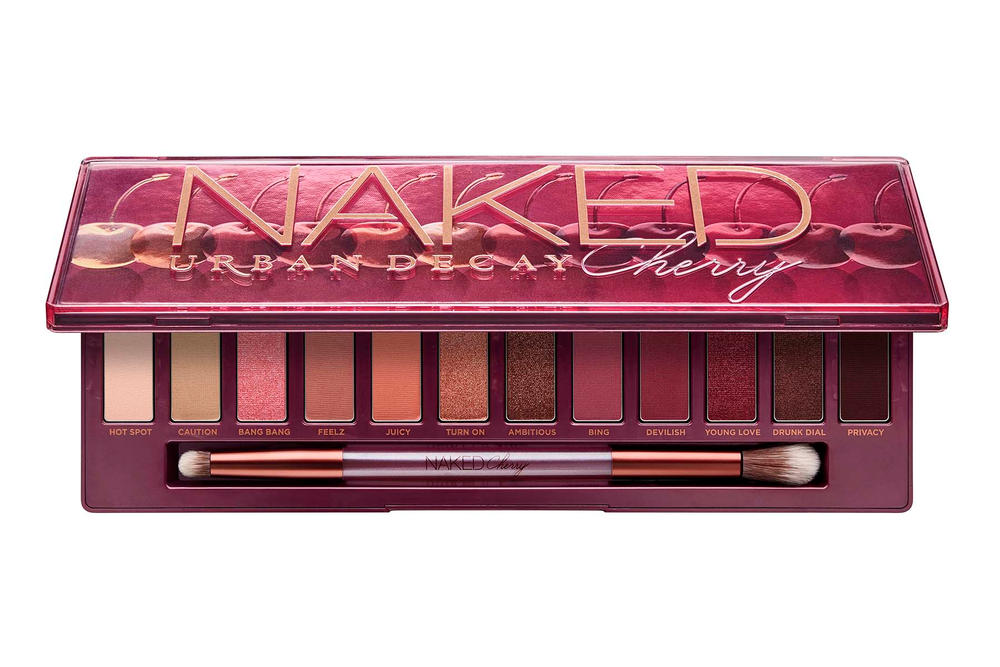 Urban Decay Naked Cherry Eyeshadow Palette Packaging Brush