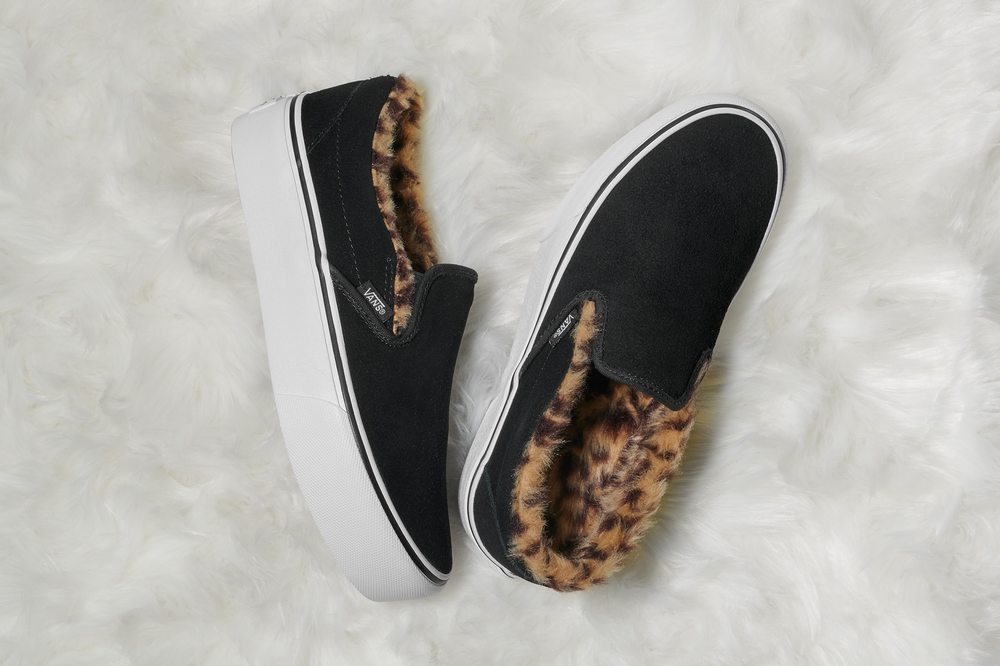 a19c7511fd8 Vans Fuzzy Leopard Authentic Platform 2.0 Classic Slip On