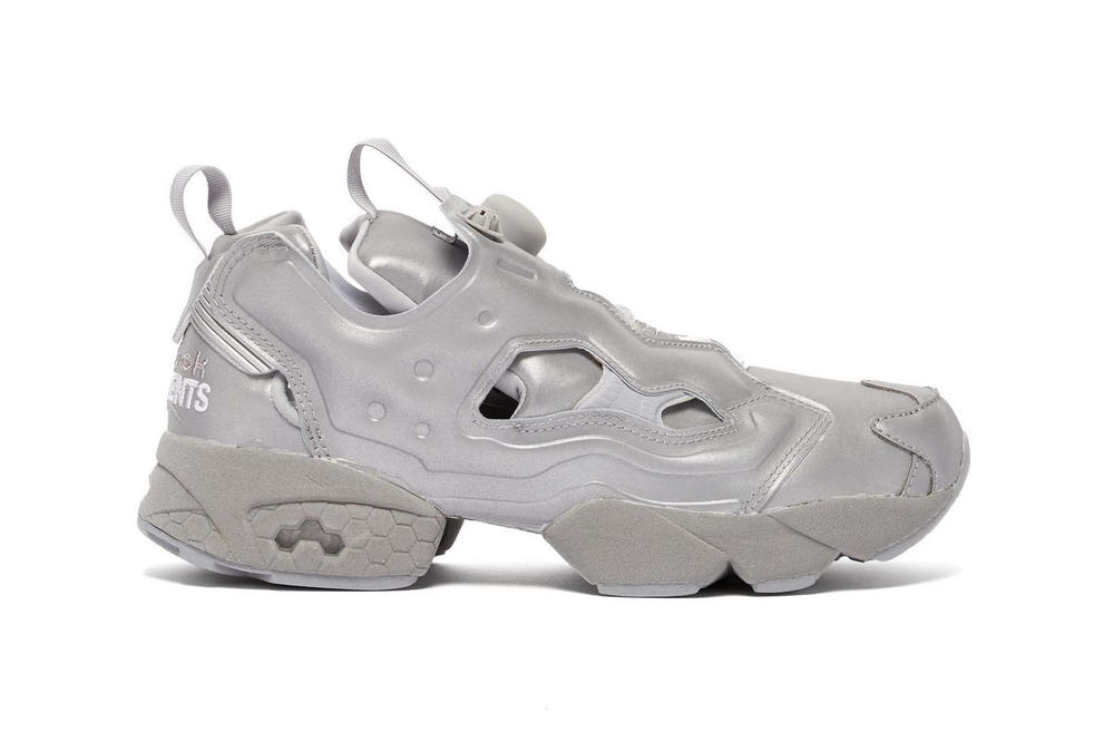 e1aacae631f764 Vetements x Reebok Instapump Fury Metallic Reflective Silver Grey Sneakers