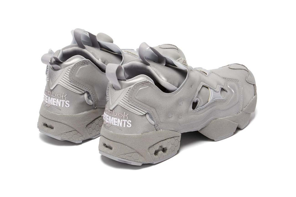 Vetements x Reebok Instapump Fury Metallic Reflective Silver Grey Sneakers 5a3a53e73