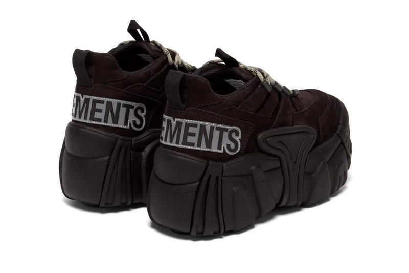 Vetements SWEAR Suede Platform Sneaker Tan Black