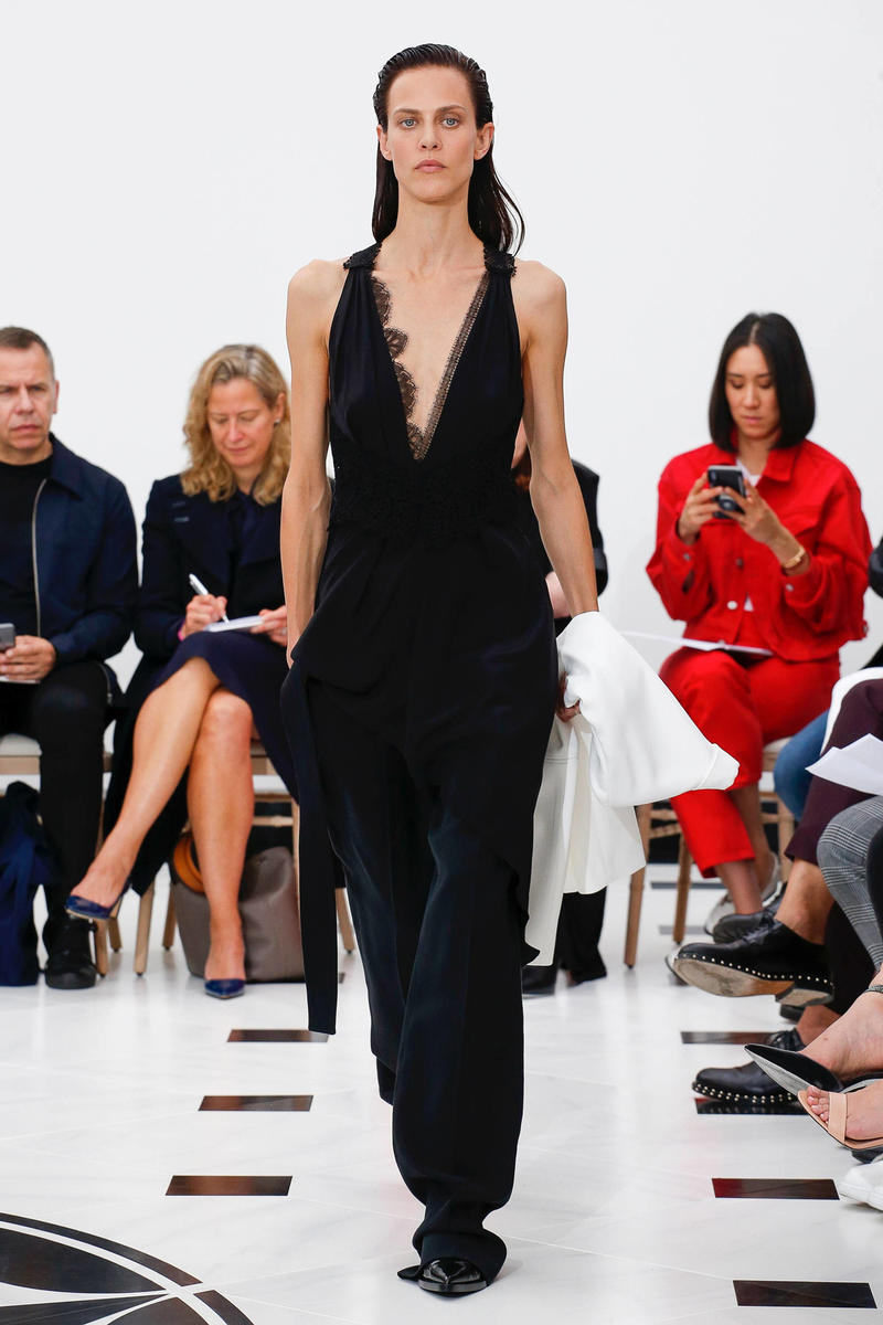Victoria Beckham Spring Summer 2019 London Fashion Week Show Collection Dress Black