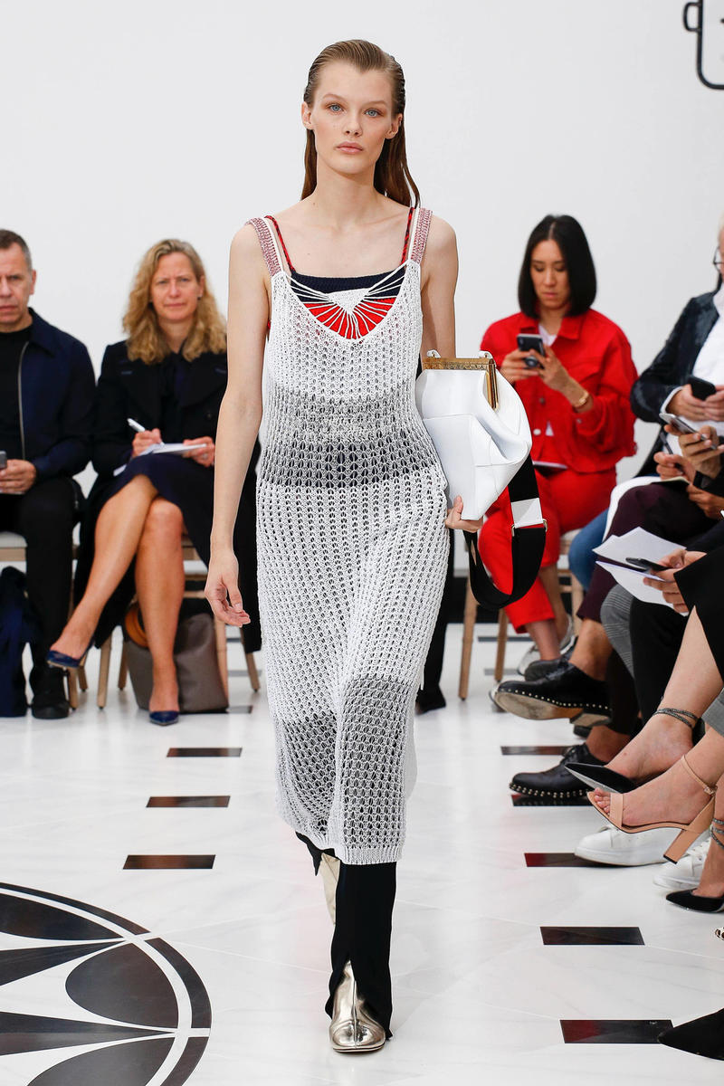 Victoria Beckham Spring Summer 2019 London Fashion Week Show Collection Knit Dress White