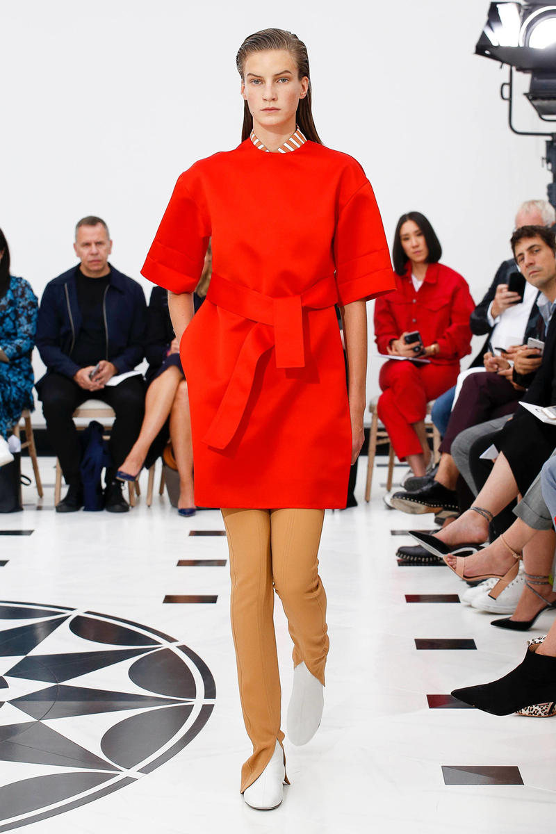 Victoria Beckham Spring Summer 2019 London Fashion Week Show Collection Dress Red