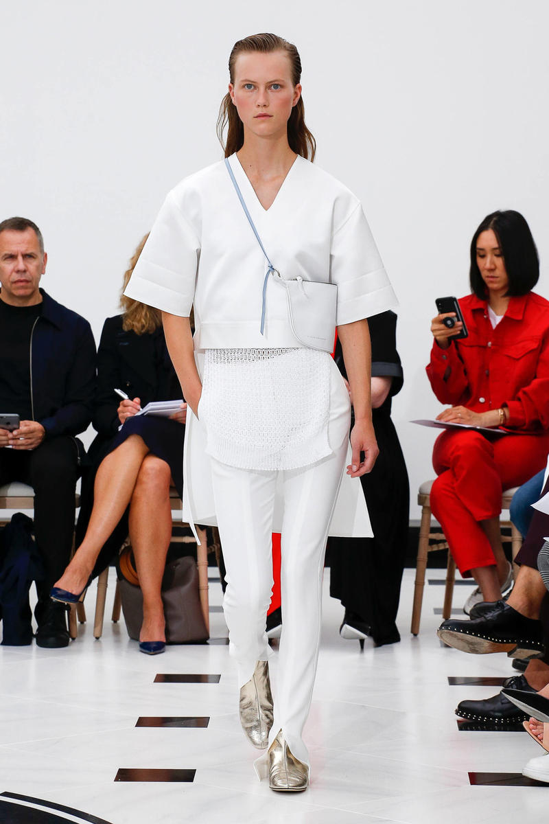 Victoria Beckham Spring Summer 2019 London Fashion Week Show Collection Jacket Trousers White