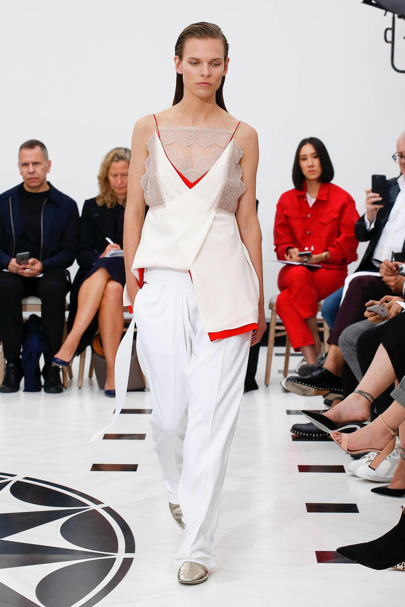 Victoria Beckham Spring Summer 2019 London Fashion Week Show Collection Top Trousers White